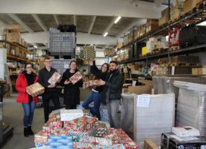 Weihnachten im Schuhkarton, Pakete sammeln - Azubiprojekt