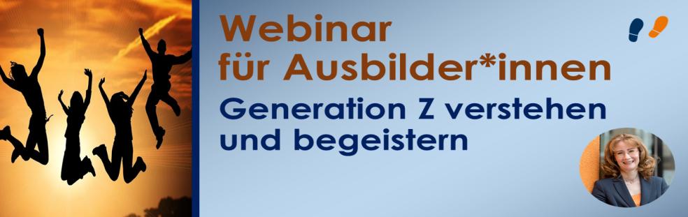 Webinar für Ausbilder Generation Z verstehen und begeistern